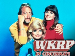 Howard Hesseman, Loni Anderson and Jan Smithers (from left)  WKRP in Cincinnati