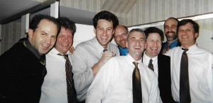 The poker guys circa 2000. That's Gary, third from the left, with the biggest smile.