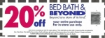 Bed bath and beyond coupon 2015